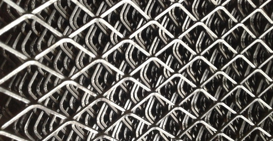 Perforated Diamond Expanded Metal Aluminium Mesh With Customized Size