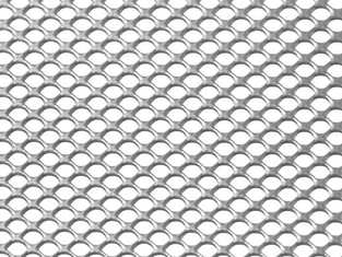 Raised Expanded Wire Mesh , Stainless Steel Decorative Expanded Metal Panels
